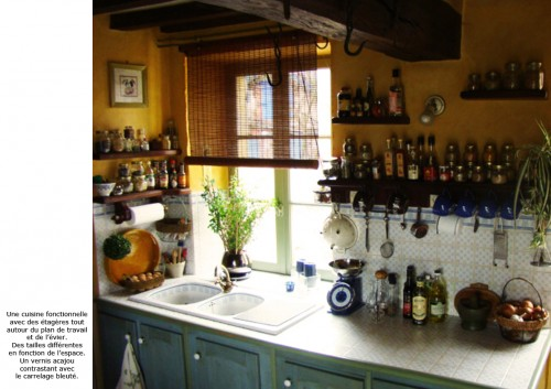 cuisine, meuble, aménagement, décoration, évier, étagère, art